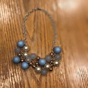 Periwinkle statement necklace